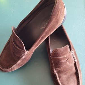 TOD'S MENS SUEDE LOAFERS